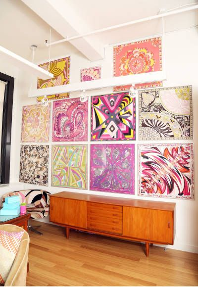Pucci scarves--Alison Brod's Manhattan Office
