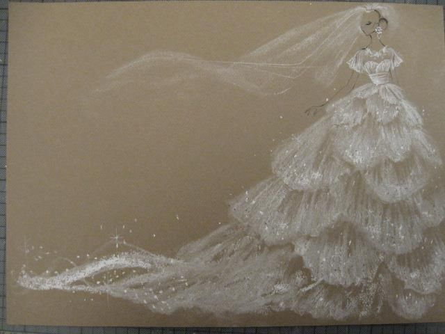 Marchesa Bridal sketch. This is one of the most beautiful illustrations I have ever seen of a wedding dress