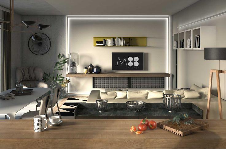 Progetto di un appartamento per una giovane coppia.
