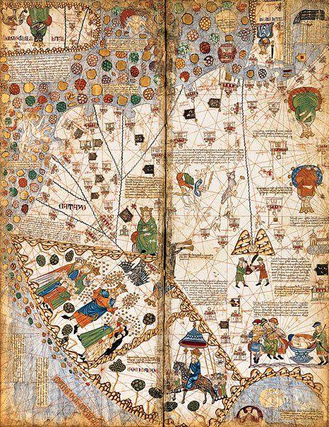 Atlas catalan, 1375, Bibliothèque nationale de France, Manuscrits, espagnol 30