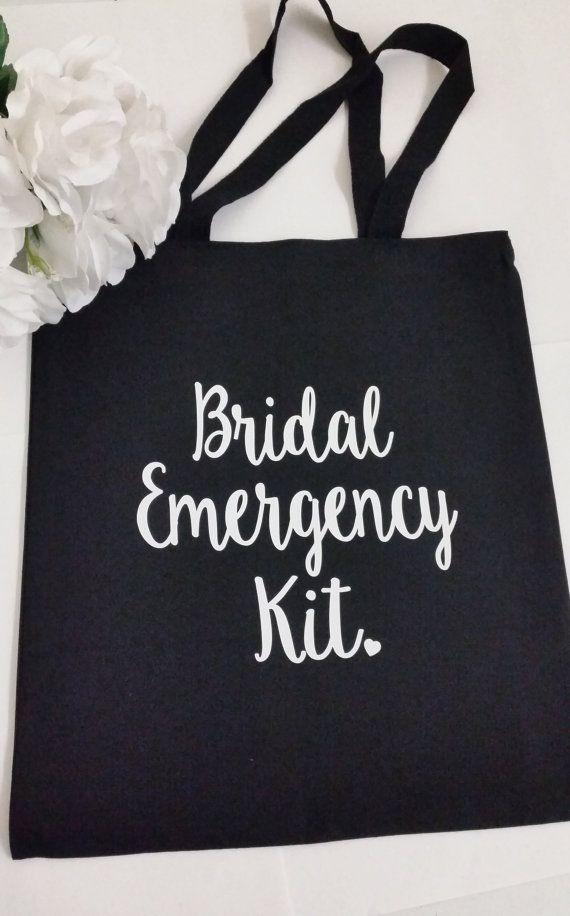 Bridal Emergency Kit Tote Bag Bride Bridesmaid Gift by HolyPosh