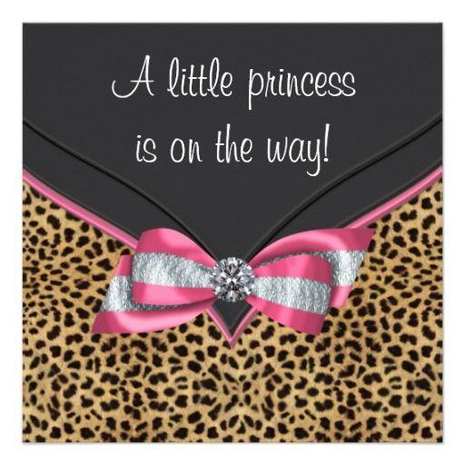 Leopard+Print+Baby+Shower+Invitations | leopard baby shower invitation this adorable pink leopard baby shower ...