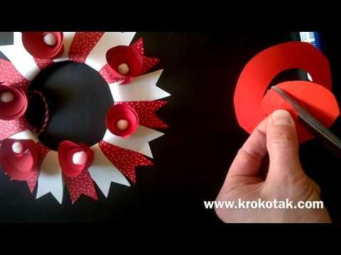 WREATH – white and red | krokotak