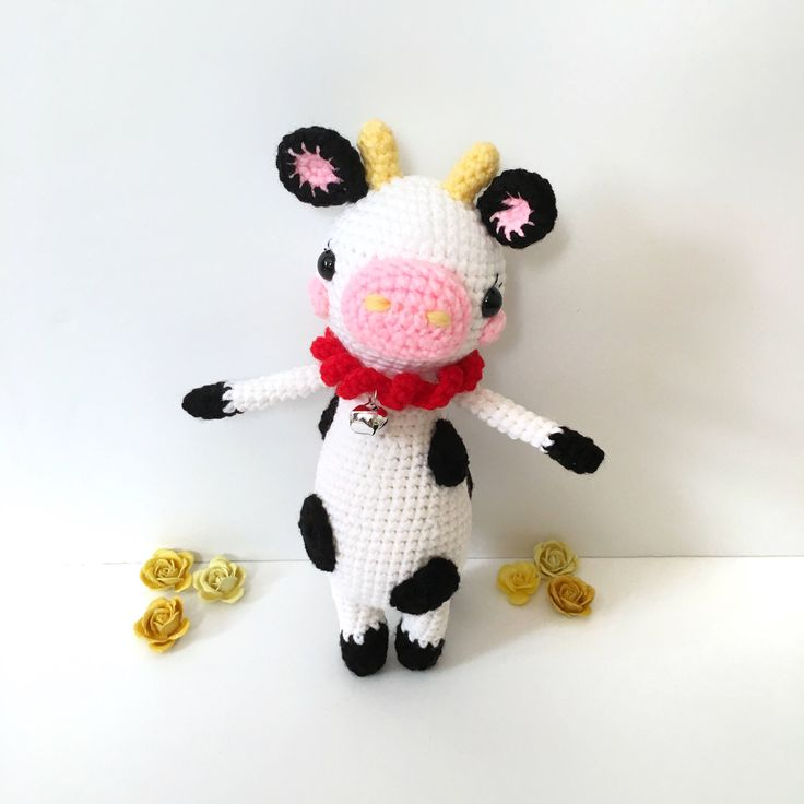Amigurumi Cow Doll Crochet Cow Plush Stuffed Cow Animal Farm Animal Kids Toy Nursery Decor Birthday Gift Mothers Day Gift Gift for Her by AmiAmiGocco on Etsy