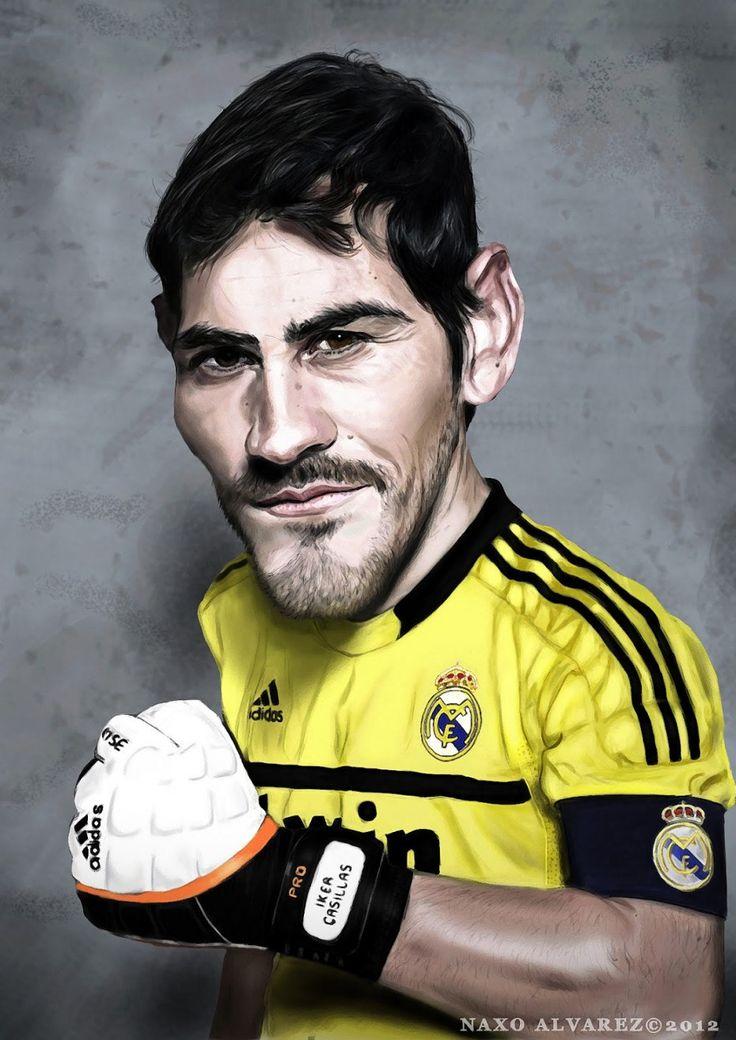 Caricatura de Iker Casillas