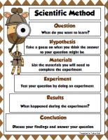 Scientific Method Poster and Recording Sheet FREE