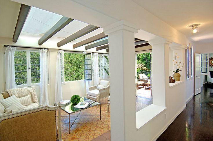 Sunroom in Charlie Sheen's house