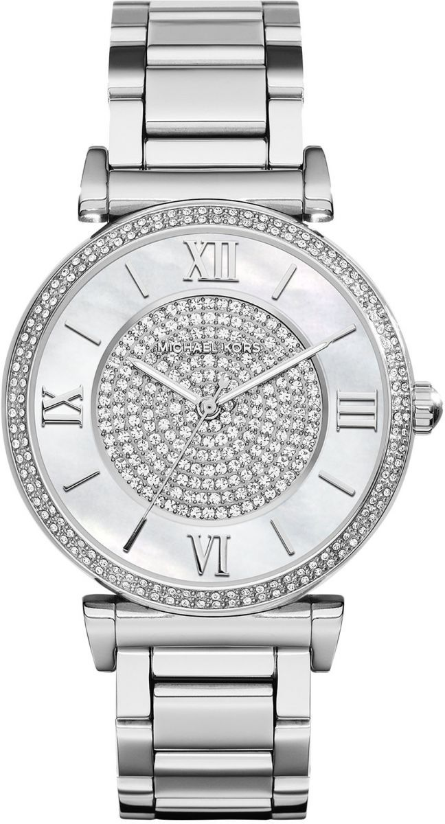 Michael Kors Mk3355 Catlin Silver Casual Watch For Women Stainless Steel Jewelry Michael Kors Womens Designer Watches