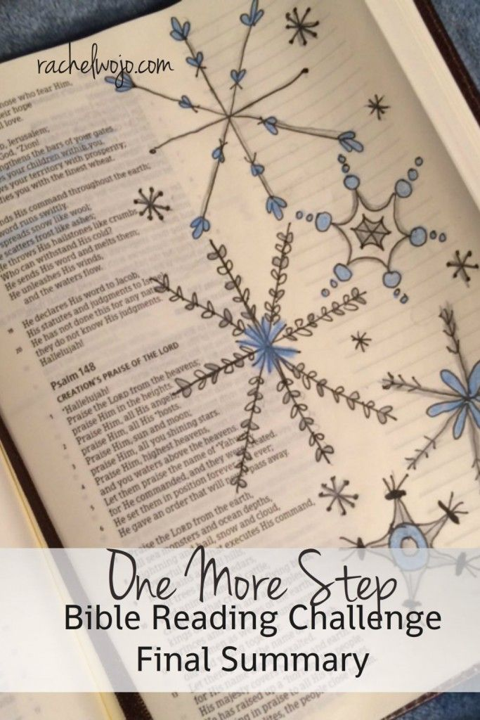 November is complete and so is another Bible reading chalelnge! Let's take a peek at the last few days of the reading. #onemorestep