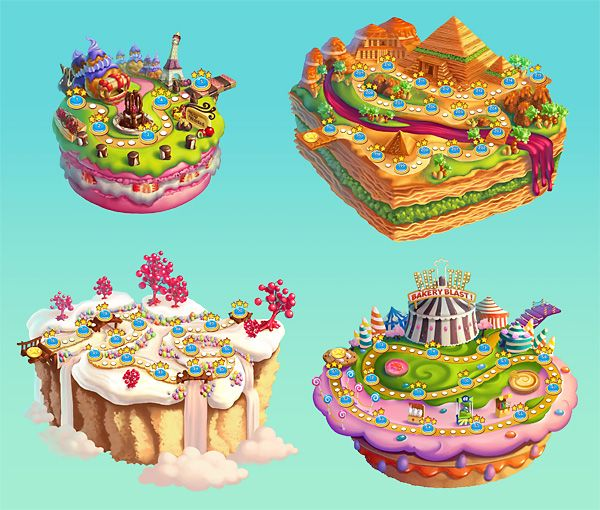 Gamasutra: Junxue Li's Blog - Cookie JAM: Sweet floating islands