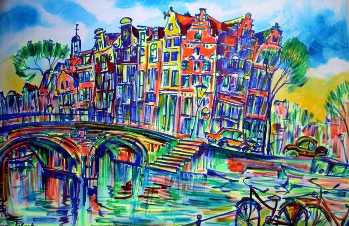 Nu in de #Catawiki veilingen: Elena Polyakova  - Prinsengracht in Amsterdam