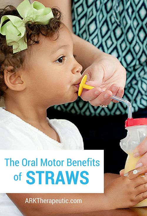 ARK Therapeutic: The Oral Motor Benefits of Straws. Pinned by SOS Inc. Resources. Follow all our boards at pinterest.com/sostherapy/ for therapy resources.
