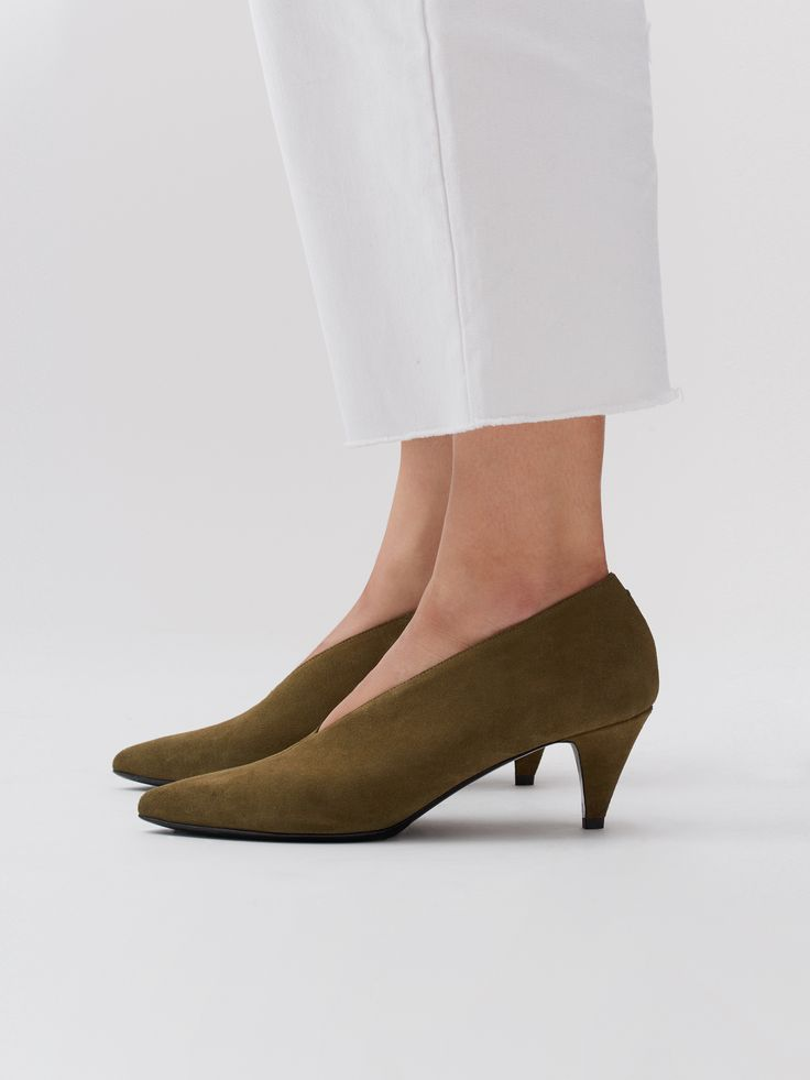 Aeyde FAY - Classic heels - taupe 9GxdK5VqN