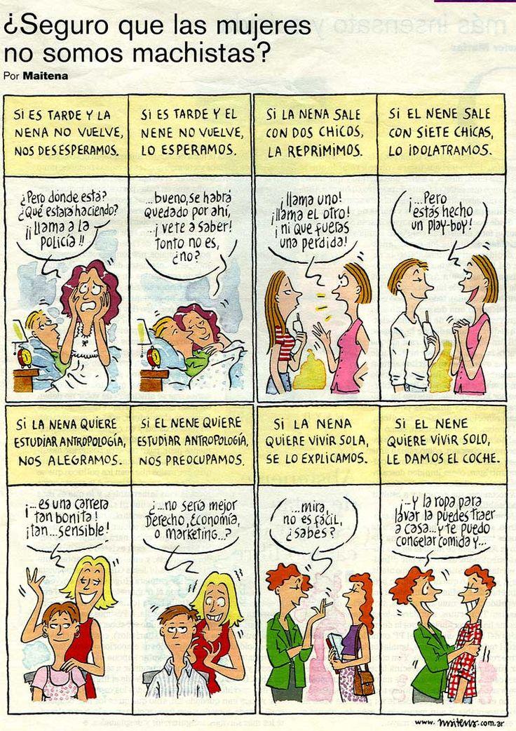 Viñeta de Maitena: ¿Seguro que las mujeres no somos machistas?