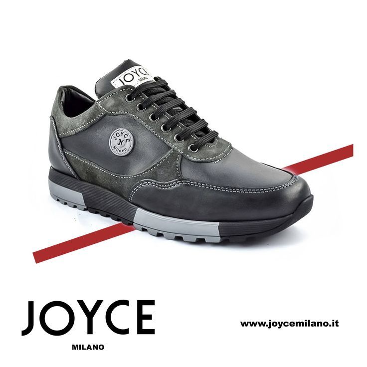 Scarpe Sneakers Uomo Joyce Milano, Made in Italy, design e produzione interamente pensato in Italia, materiali in Camoscio, Per queste scarpe Sneakers Casual in Camoscio con riporto in vitello di colore grigio il fondo è in Gomma.