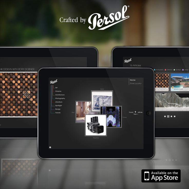 Crafted by Persol is the first iPad app for discovering curated articles on craftsmanship from around the globe. Free download @ http://pers.sl/Q4wMuS
