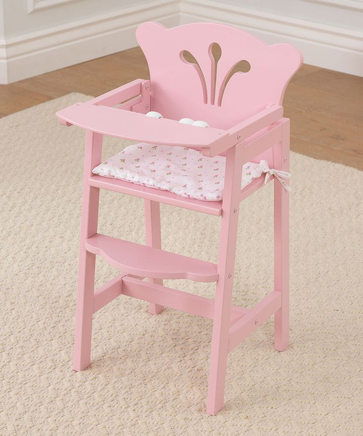 This KidKraft Pretty 'N' Pink High Chair For 18'' Doll by KidKraft is perfect! #zulilyfinds