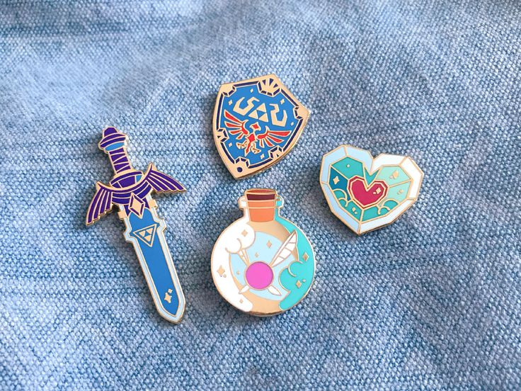 Legend of Zelda - Breath of the Wild Collection Enamel Pins by LilyXiaDesigns on Etsy