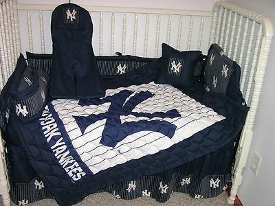 crib nursery bedding set made w new york yankees ny ebay. beautiful ideas. Home Design Ideas