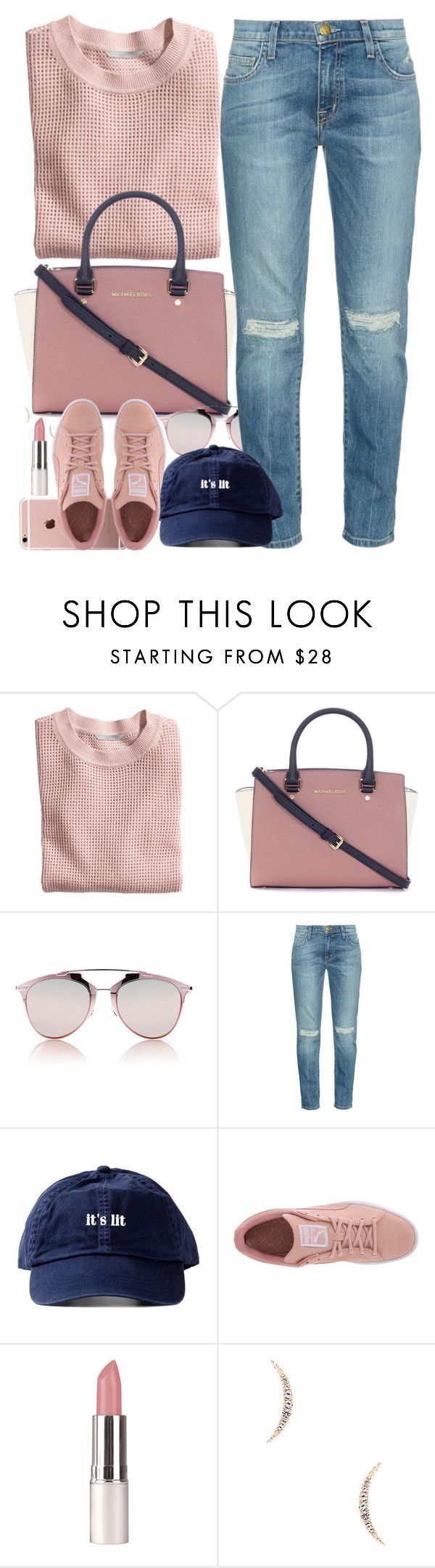 """""""Guys Should I Make A Group???"""" by oh-aurora ❤ liked on Polyvore featuring H&M, Michael Kors, Christian Dior, Current/Elliott, Puma and Elizabeth and James"""