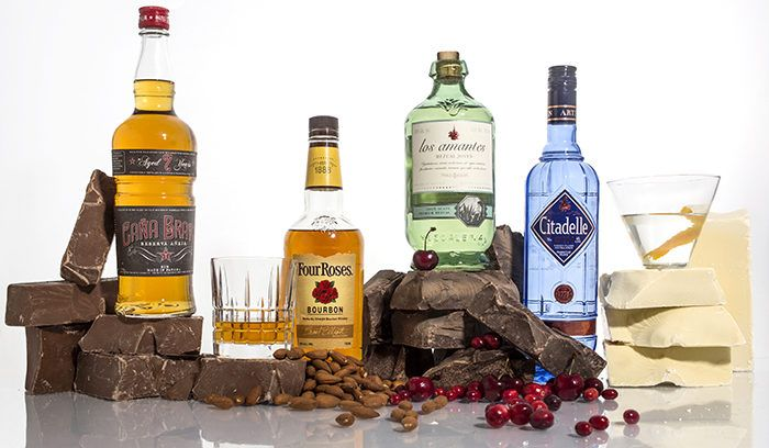 Chocolate & Spirits Pairings to Set the Heart Aflutter...  Chocolate and wine pairing is well-worn Valentine's Day territory, but how about liquor?   We pair 4 types of chocolate with 4 spirits. Plus: boozy candy.