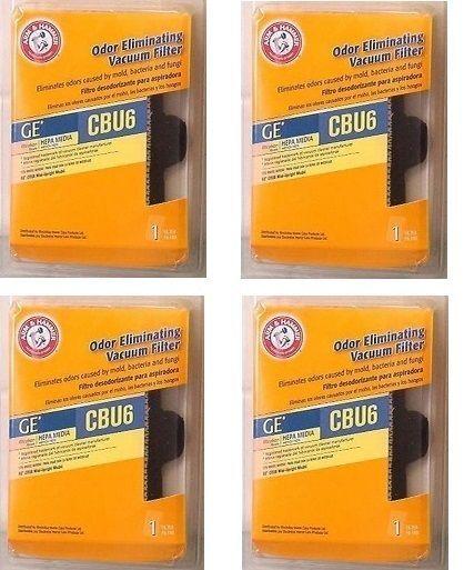 4 Arm & Hammer Odor Eliminating HEPA Vacuum Filter GE CBU6 63578  #GE
