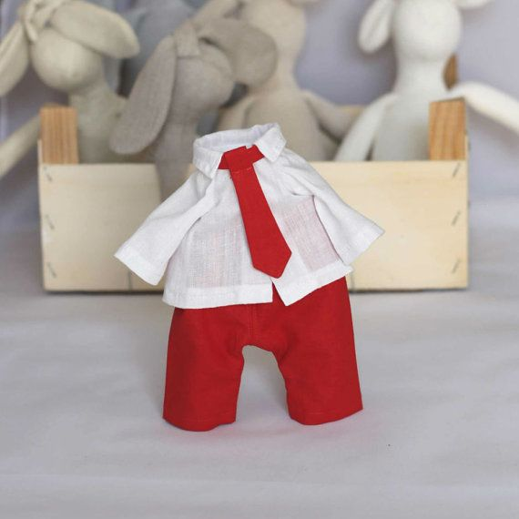 Boy Doll Clothes Set 12 inch Doll Pants Shirt and by RibizliDesign, $14.00