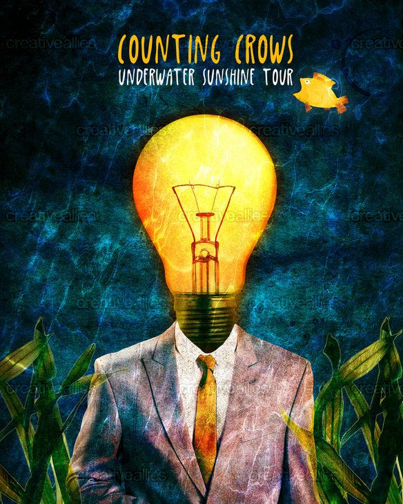 Counting Crows Poster by lrpdesign on CreativeAllies.com