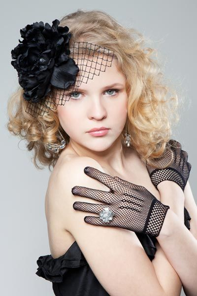 prom hairstyle curly hair accessory fascinator