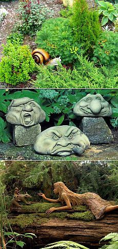 Садовые фигуры для дачи: садовые гномы, скульптуры, фигурки животных