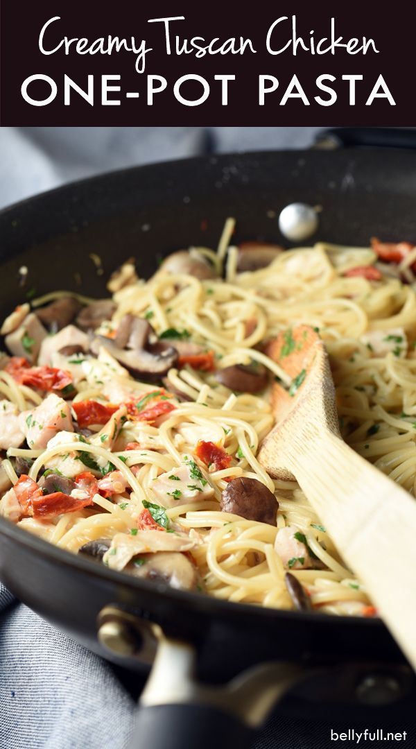 This Creamy Tuscan Chicken Pasta is super easy and loaded with flavor. Plus it's…
