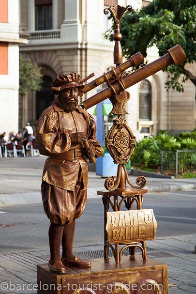 living statues Barcelona - Galileo