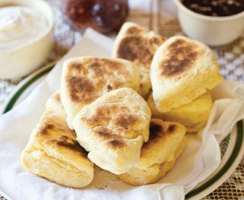 Mrs Martin's griddle scones http://www.eatout.co.za/recipe/mrs-martins-griddle-scones/