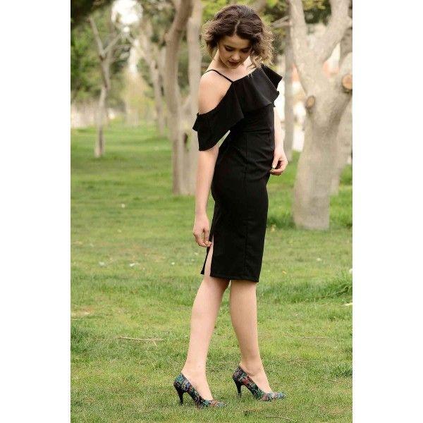 Askili Klasik Siyah Kalem Elbise Kalem Elbise Elbise Siyah Kalem