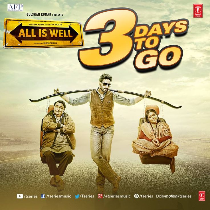 The final countdown has begun!! The Crazy family starring Abhishek Bachchan, Rishi Kapoor, Asin are going to hit theaters in just 3 days!!  #TseriesMusic #AllIsWell #AbhishekBachchan #Asin #RishiKapoor #3DaysToGo