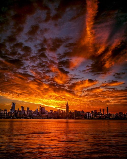 Fire in the sky by Paul Seibert Photography - New York City Feelings