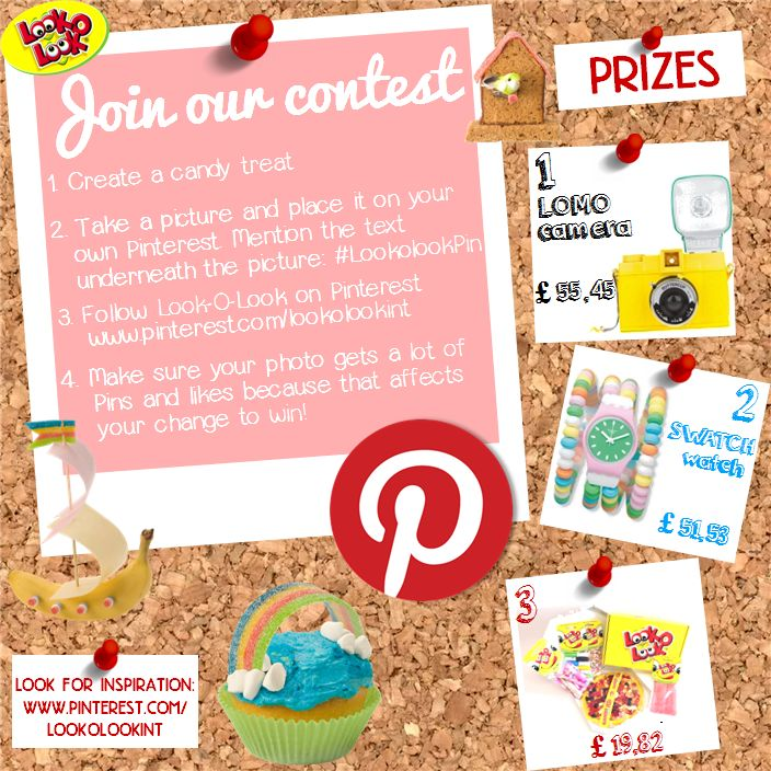 Join our contest, it's easy! So join and win amazing prizes!  #Candy #DIY