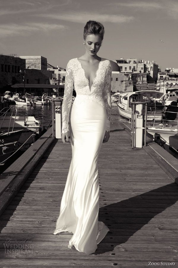 zoog studio bridal 2013 long sleeve lace bodice wedding dress Love the skirt and sleeves!  LOVE!!!
