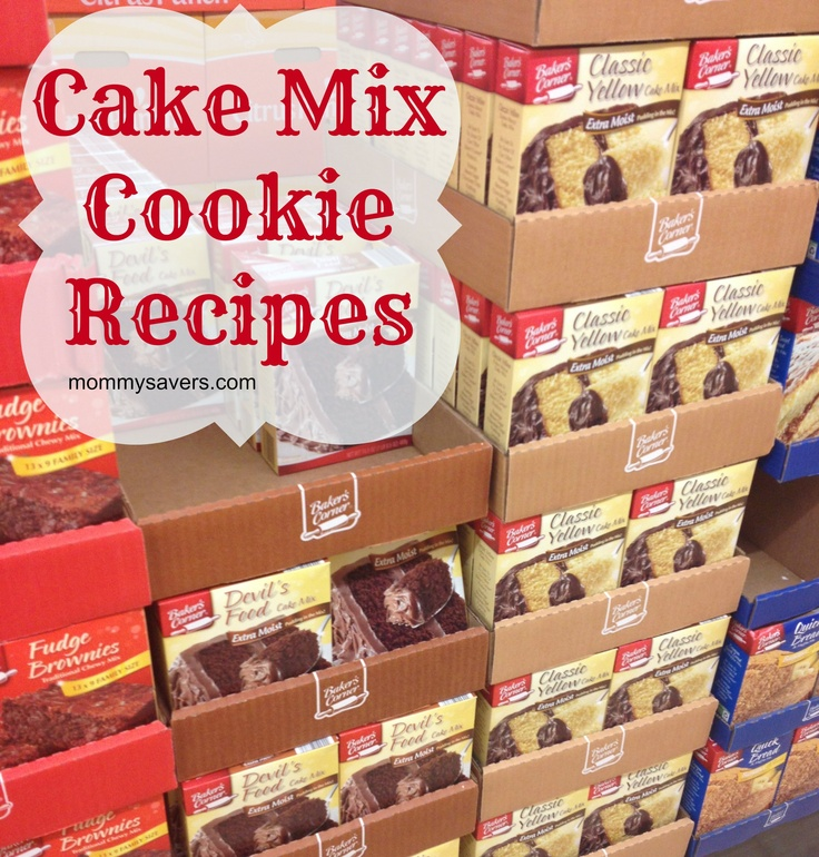 Making cookies with a cake mix makes it super-easy! Here are several of our favorite cake mix cookie recipes