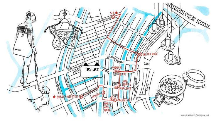 Shopping route Amsterdamse merken