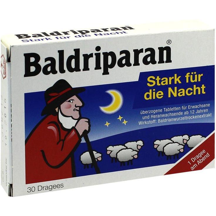 BALDRIPARAN Stark für die Nacht überzogene Tab:   Packungsinhalt: 30 St Überzogene Tabletten PZN: 00499175 Hersteller: Pfizer Consumer…