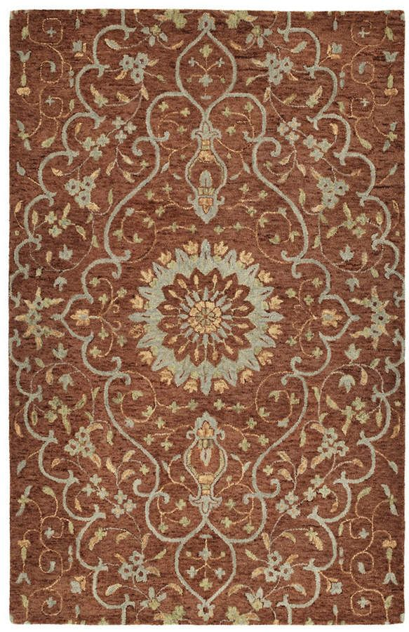 Kaleen Chancellor Cha01 06 Brick 10 X 14 Area Rug Hand Tufted