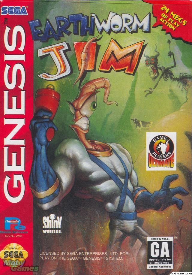 Endless nights sippin' on a nasty Mountain Dew and watching my brother play this lol  .Earthworm Jim Sega Genesis