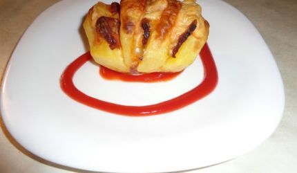 Fotorecept: Zapekané zemiaky s údeným bôčikom