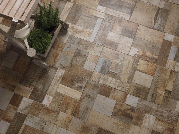 Cobblewood, exterior floor tiles with wood effect | Ceramica Rondine