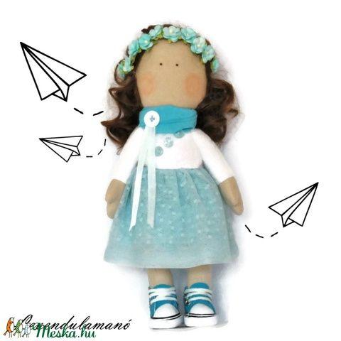 """Alice"" kék ruhás baba (Levendulamano) - Meska.hu"