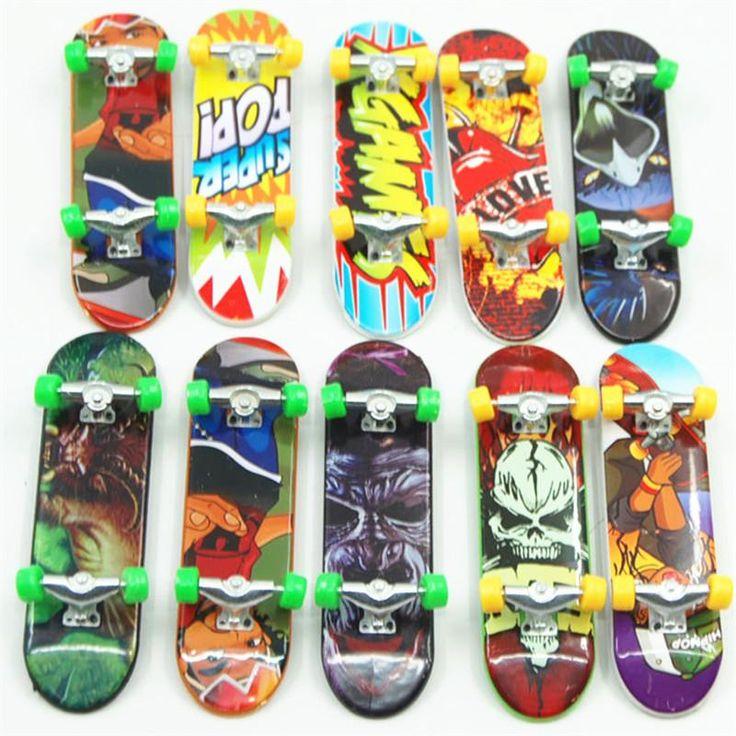 Mini Finger Plastic Skateboards Unti-smooth Professional Fingerboard for kids Toy Finger Skate finger-skateboard