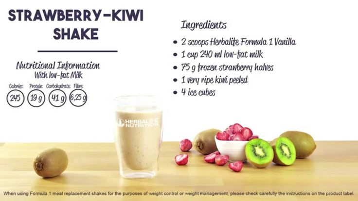 Herbalife Share a Shake! Recipe of the Day: super fruity Strawberry & Kiwi