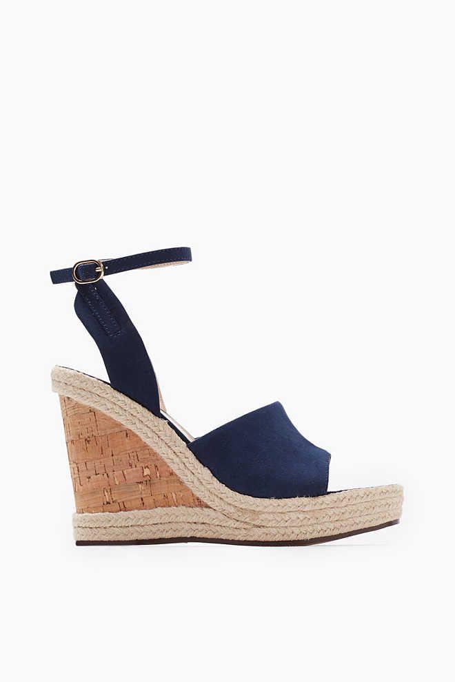 Esprit / Keil-Sandalette mit Kork-Sohle