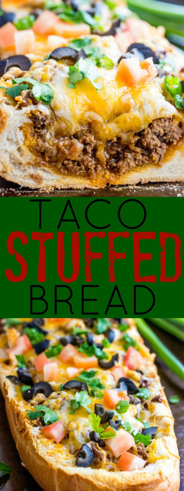 Taco Stuffed Bread - A quick and easy weeknight meal, stuffed with all your favorite things about Taco Night!
